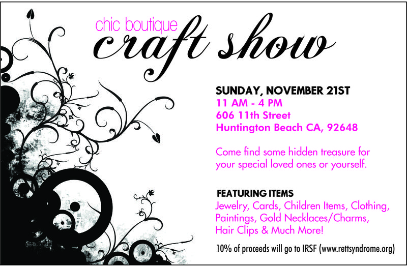2010_Chic Boutique Craft Show Flyer